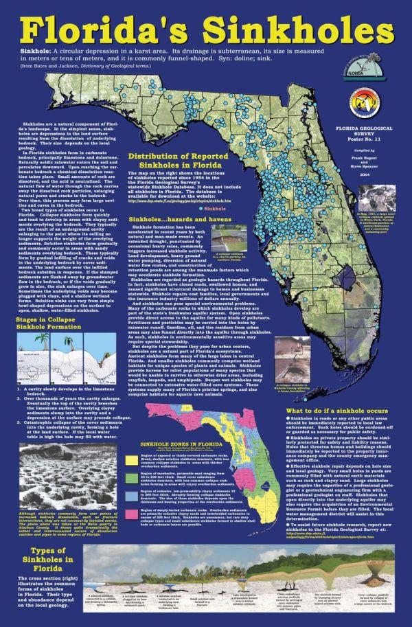 FloridaSinkholeMap Florida Sinkhole Map Florida