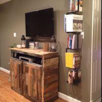 Homemade entertainment center and homemade bookshelf ...