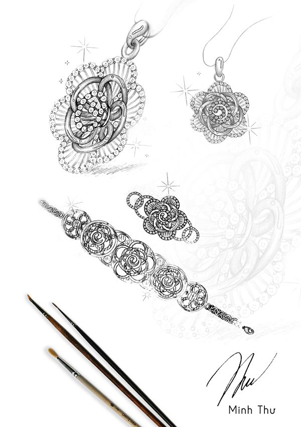 17 Best images about Jewellery Drawings on Pinterest