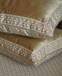 Pillows completed with modern decorative tape by Brimar. # ...