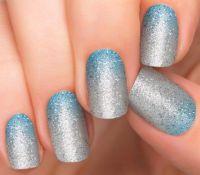 Blue Ombre Nails | Glitter Nail Designs | 1 Step Nail Art ...