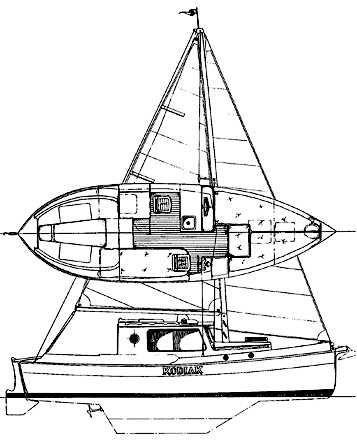 2000 Nimble Kodiak Pilothouse Motor Sailor Sail Boat For