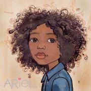 african american natural hair drawings