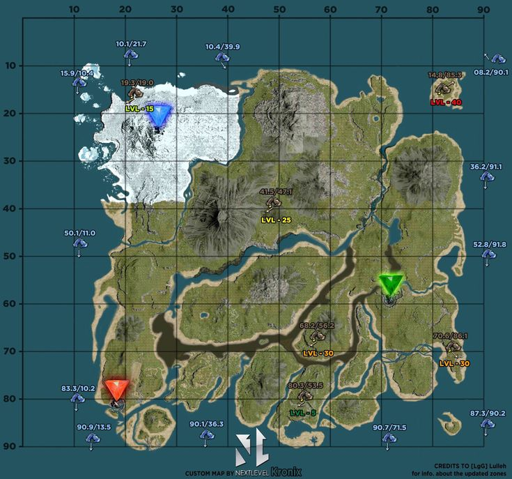 ARK Survival Evolved A High Quality Custom Map Of The Island By ARK Pinterest