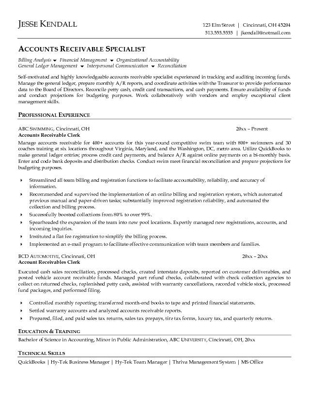 Objective For Accounts Payable Resume