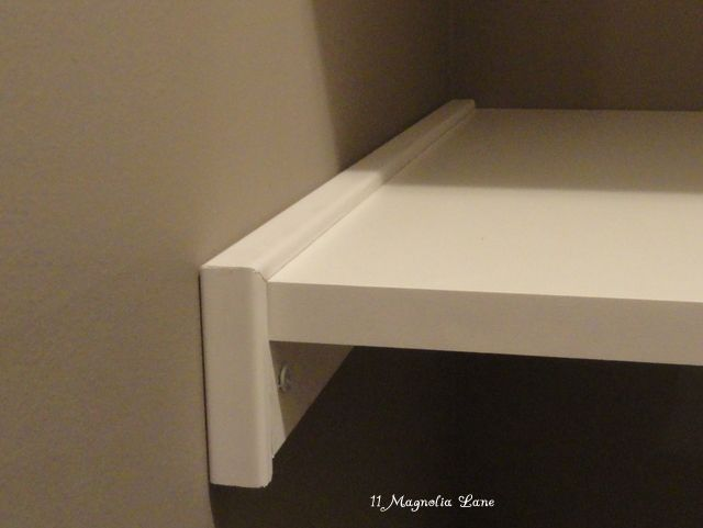 Corner pantry redo with solid shelving from  Melamine