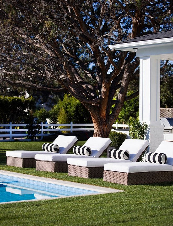 White Pool Lounge Chairs