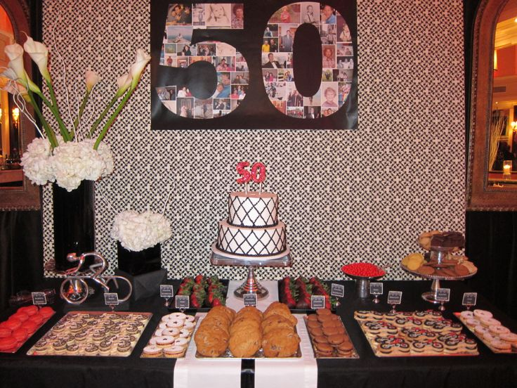 50th Birthday Dessert Table