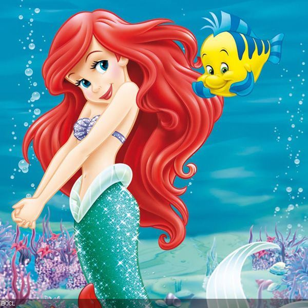 Cute Animated Cupcake Wallpaper The Little Mermaid Ariel And Flounder Disney A Part