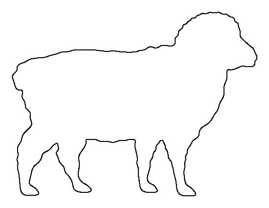 Sheep pattern. Use the printable outline for crafts