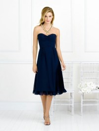 Bridesmaid Dress: Sweetheart Natural Waist Pleated Tea