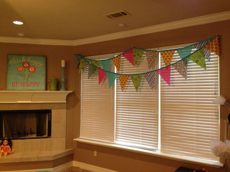 living room big window lighting for rooms girls game flag banner valance | new house ideas ...
