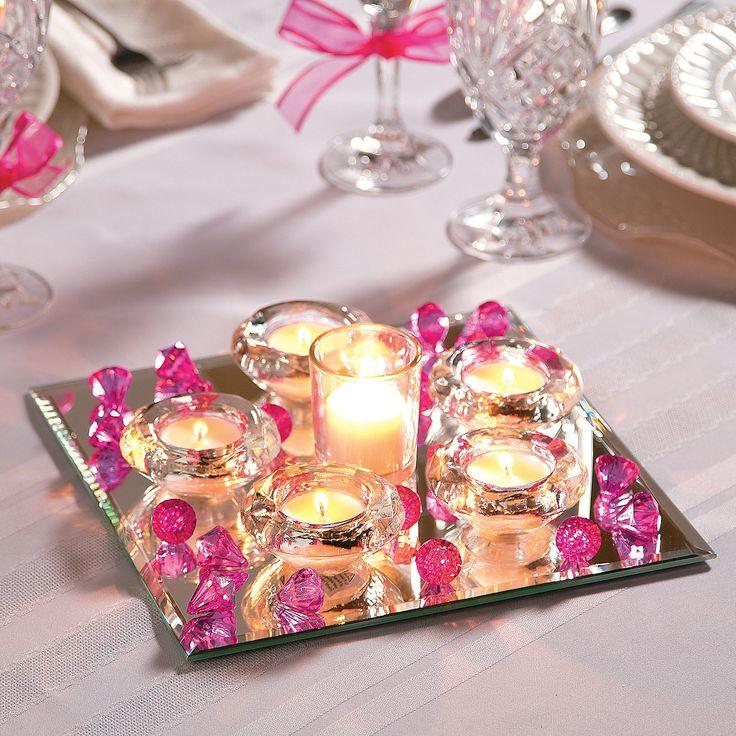 78+ ideas about Mirror Wedding Centerpieces on Pinterest