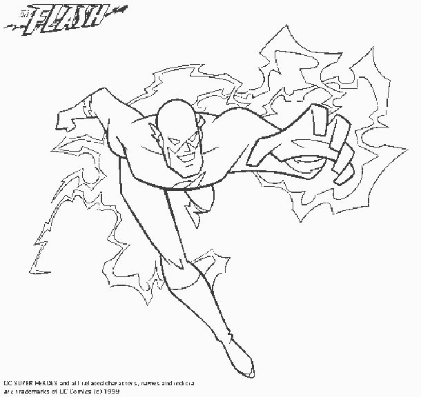 The Flash (open pin for more DC comics coloring pages