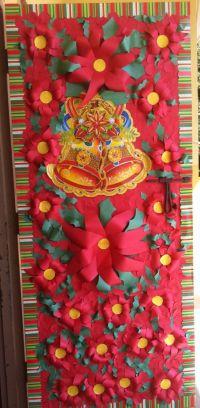 Poinsettia door decoration | Classroom Displays ...