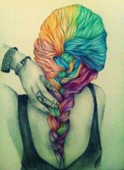 beautiful #hair #color #draw #cartoon