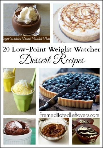 20 Weight Watchers Dessert Recipes – Low-point dessert recipes. All of theses weight watchers dessert recipes have less than 4