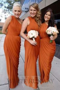 25+ Best Ideas about Orange Bridesmaid Dresses on ...