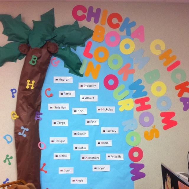 Chicka Chicka Boom Boom Bulletin Board Kindergarten