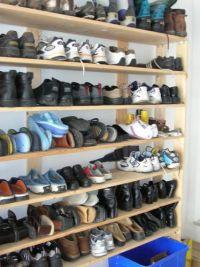 Shoe racks, Garage and Vertical shoe rack on Pinterest