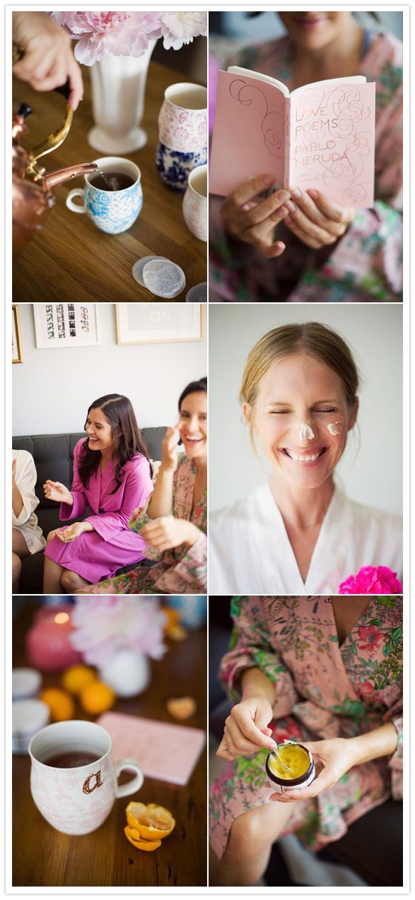 Spa Day? theme for bachelorette party. Linen, Lace, & Love: Bridal Shower Ideas: Part 2.