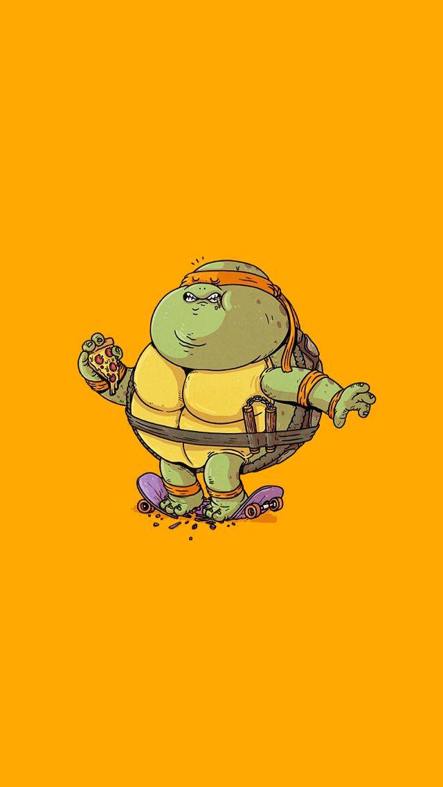 Cute Zelda Phone Wallpaper Fat Teenage Mutant Ninja Turtles Michelangelo Cute