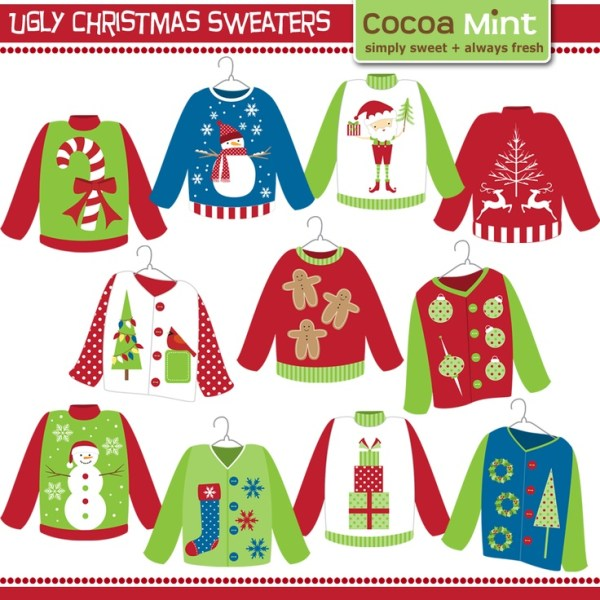 ugly christmas sweater clip-art
