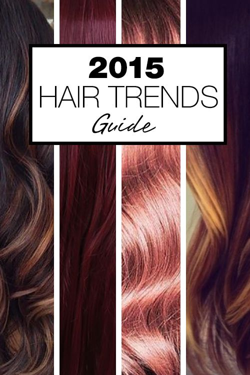 Check out 2015s Hair Color Trends! From babylights and platinum blonde to marsala and caramel browns – get your latest hair color
