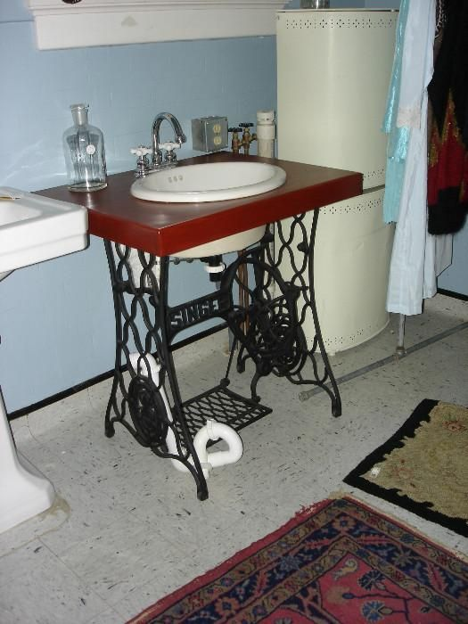 7 best images about Repurposed treadle sewing machines on