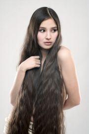 beautiful girl with long dark