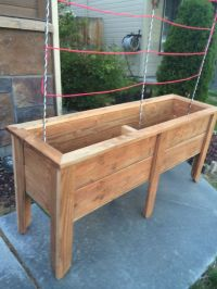 Planter Box made out of 5 Stained Fence pickets using a ...