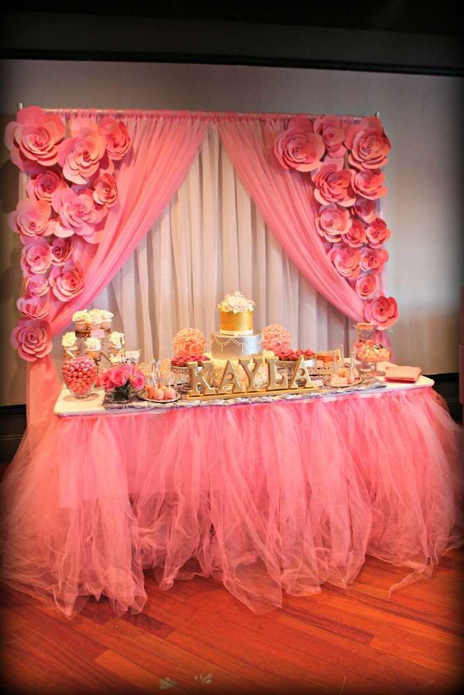 It'S A Girl/ Pink and silver Baby Shower Party Ideas
