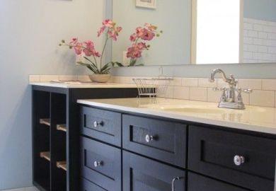 Light Blue Bathroom Cabinets Design Decor Photos