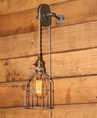 Details about Industrial Pulley Wall Sconce for your ...