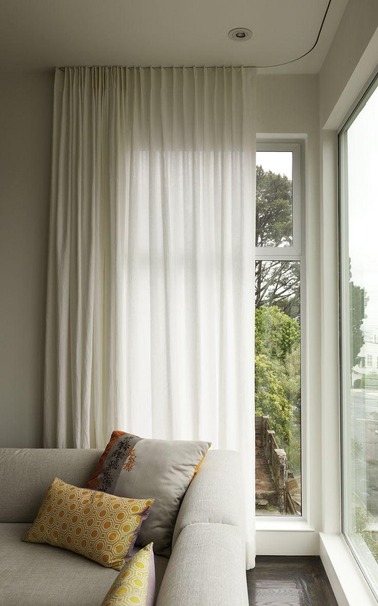22 best Ceilingmounted curtain rail images on Pinterest