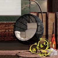 Rattan swing hammock lounged hanging basket cradle chair ...