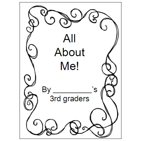 Download this free All About Me book for 2nd or 3rd grade