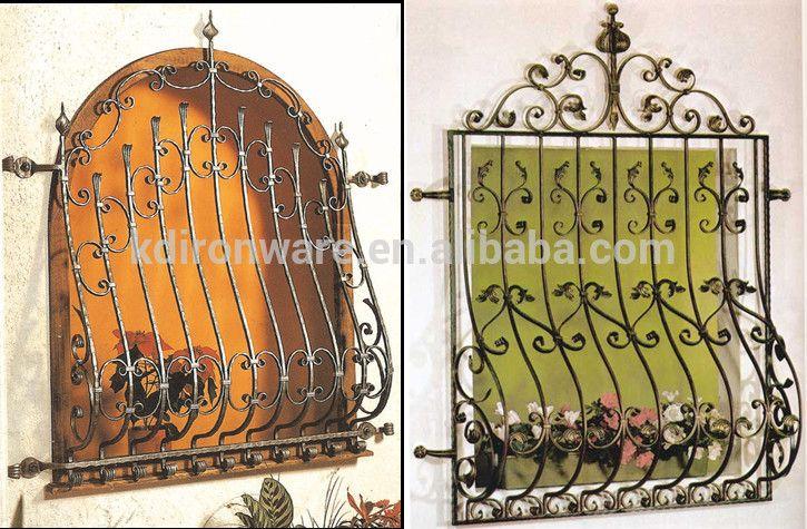 Decorative Wrought Iron Window Grills Design For Sliding