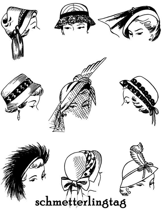 17 Best images about 1940-1959 Hats & Hair Styles on