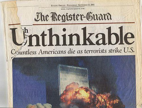 9 11 NY World Trade Center Terrorist Attack Register Guard Newspaper 91201 September 12 2001 2
