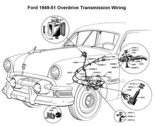 Wiring diagram for 194951 Ford OD | Wiring | Pinterest | Ford
