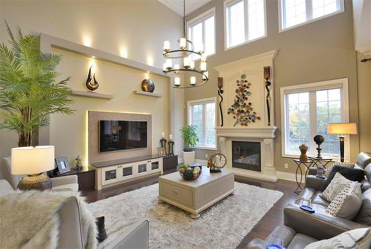Living Room, High Ceiling Decoration For Living Room With ...