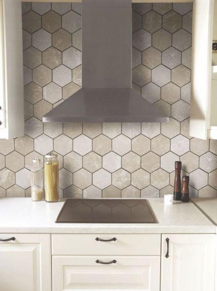 hexagon tile kitchen backsplash 1000+ ideas about Hexagon Tiles on Pinterest | Tiling, Textured Walls and Hex Tile