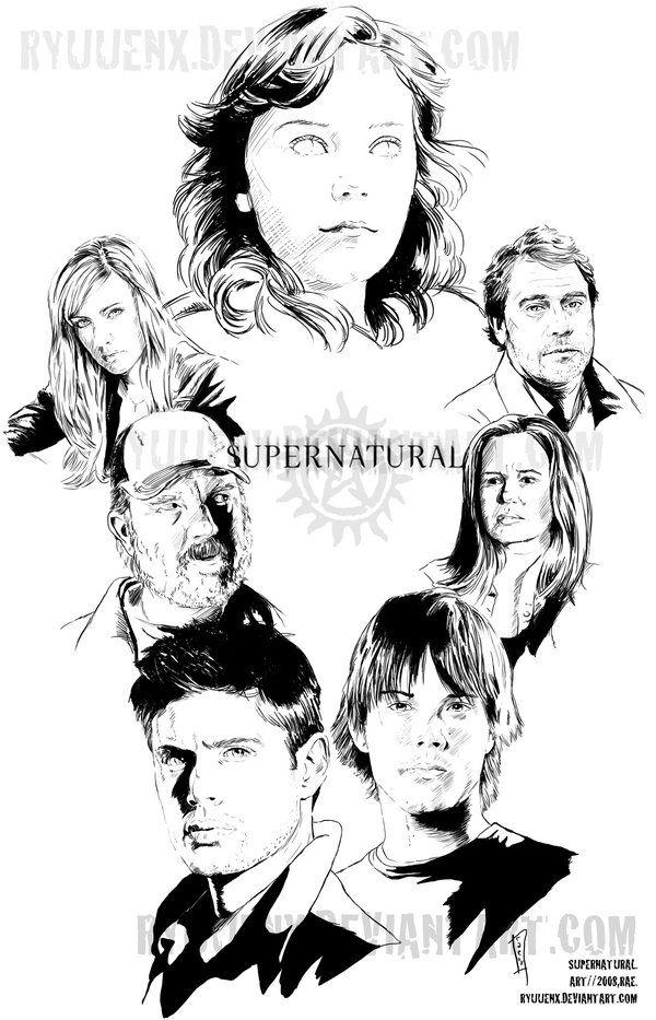 19 best images about Supernatural coloring on Pinterest