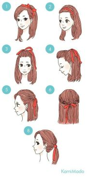 ribbon hairstyle ideas