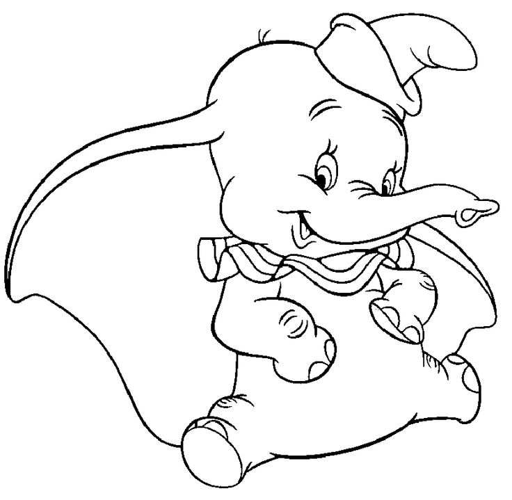 17 Best images about Dumbo Coloring Pages on Pinterest