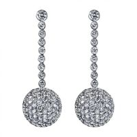 Sphere Collection Diamond Dangling Earrings (11 1/4 ctw G ...