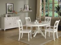 round-white kitchen table sets | Round White Kitchen Table ...