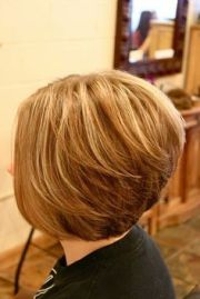 inverted bob front and view