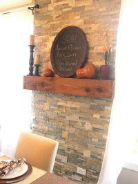 Wood Stove Back Wall Ideas | ... veneer wall  behind bar ...